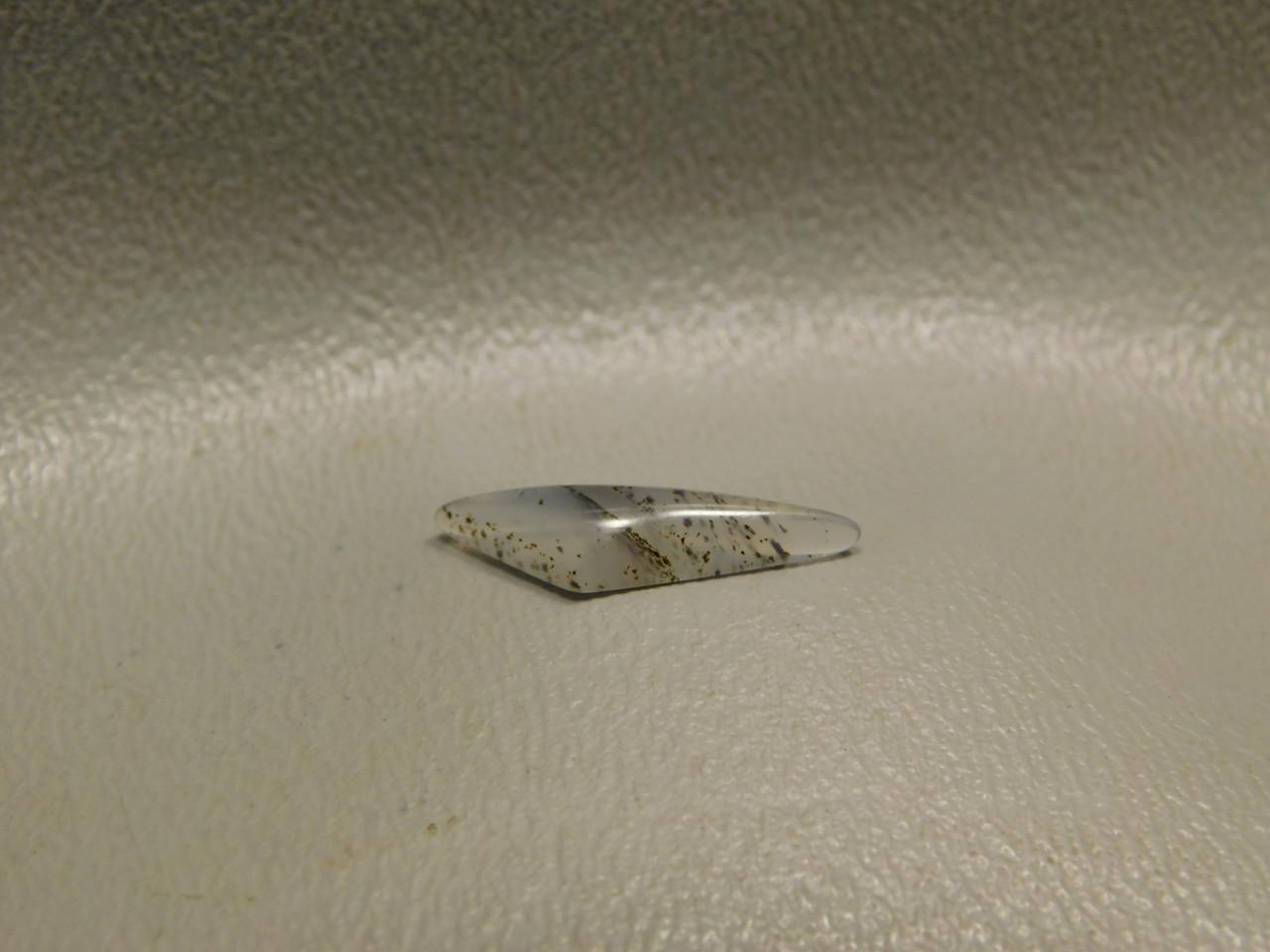 Montana Agate Translucent Small Triangle Cabochon Jewelry Stone #18
