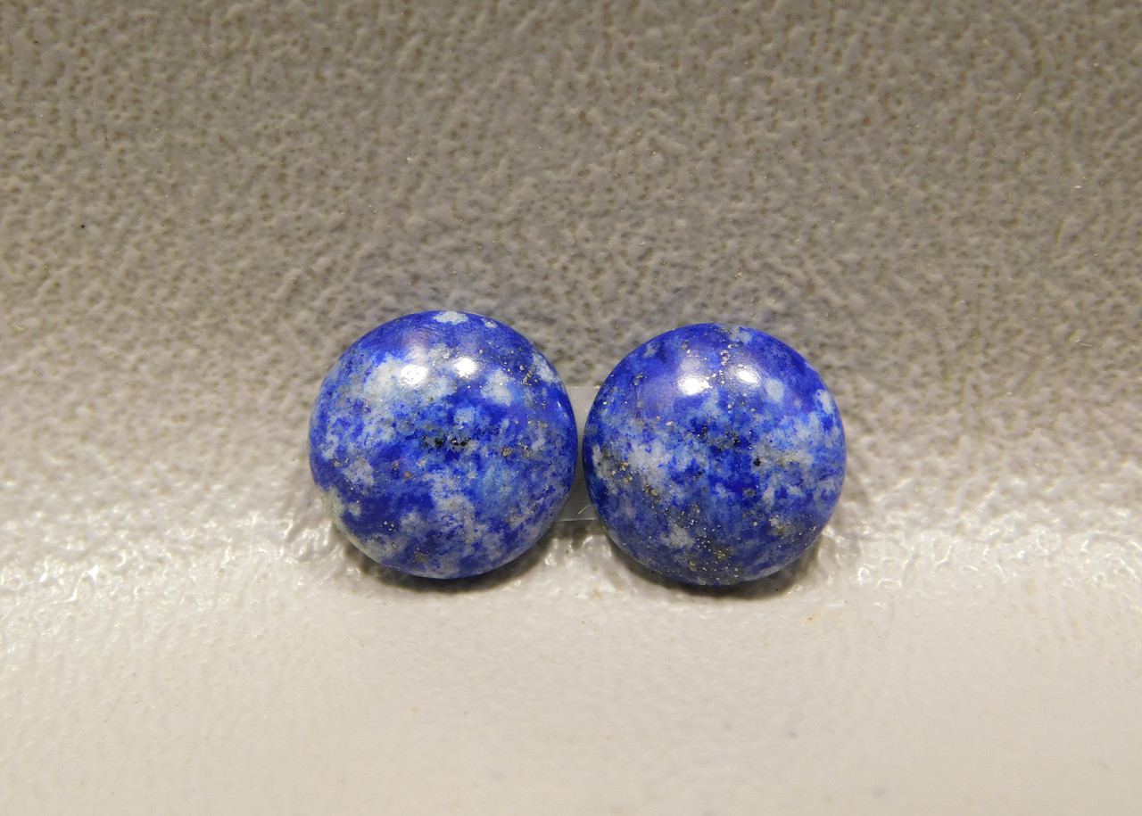 Cabochons Blue Stone Lapis Small 10 mm Round Matched Pairs #2