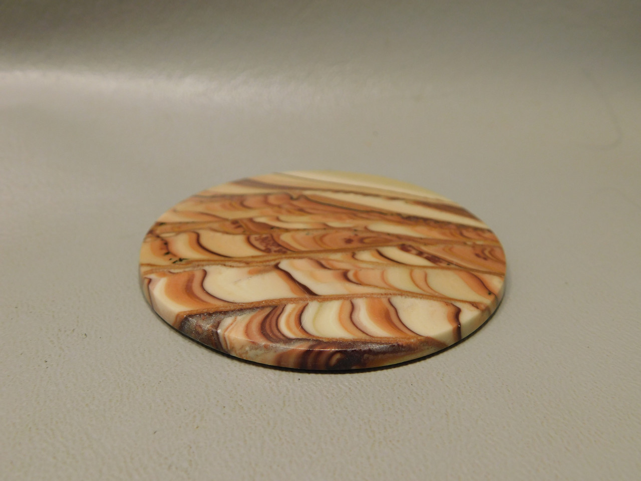 Wave Dolomite Large Cabochon Stone 61 mm 2.4 inches Round XL1