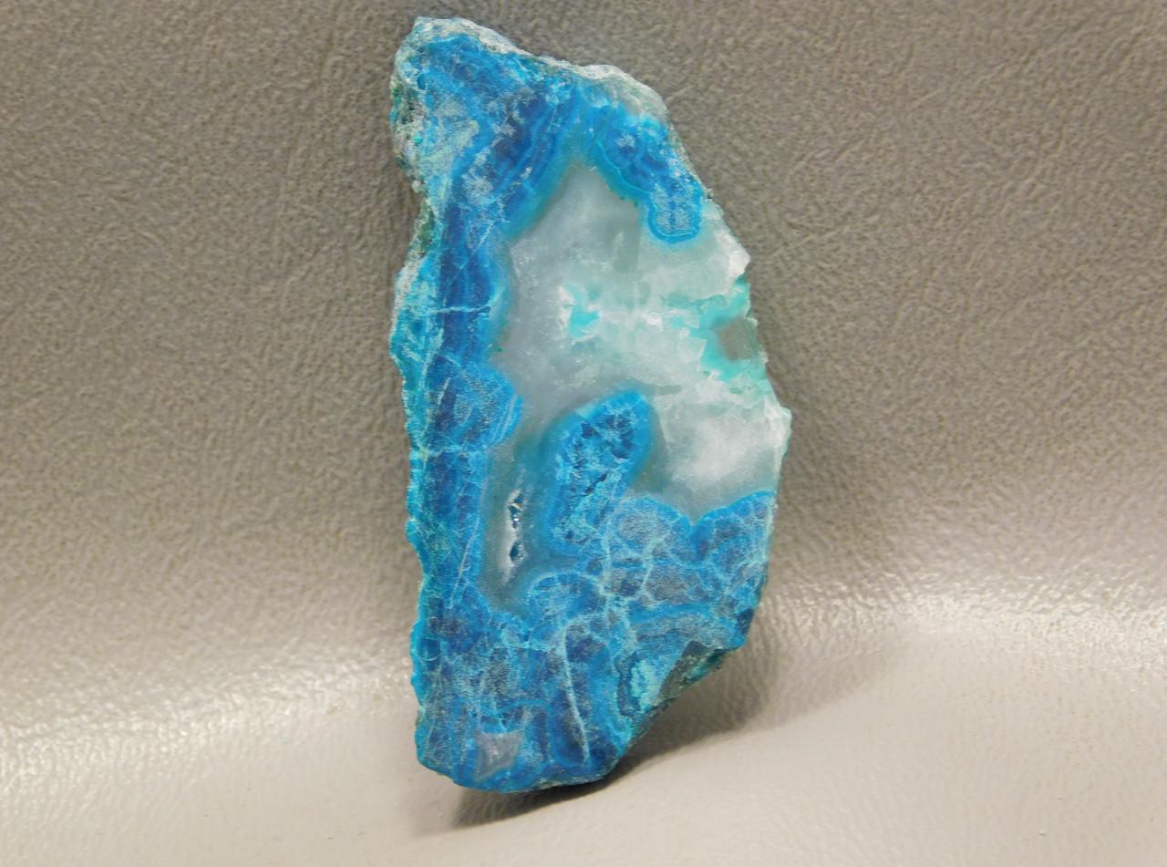 Gem Silica Chrysocolla Blue White Small Polished Slab Freeform #S18