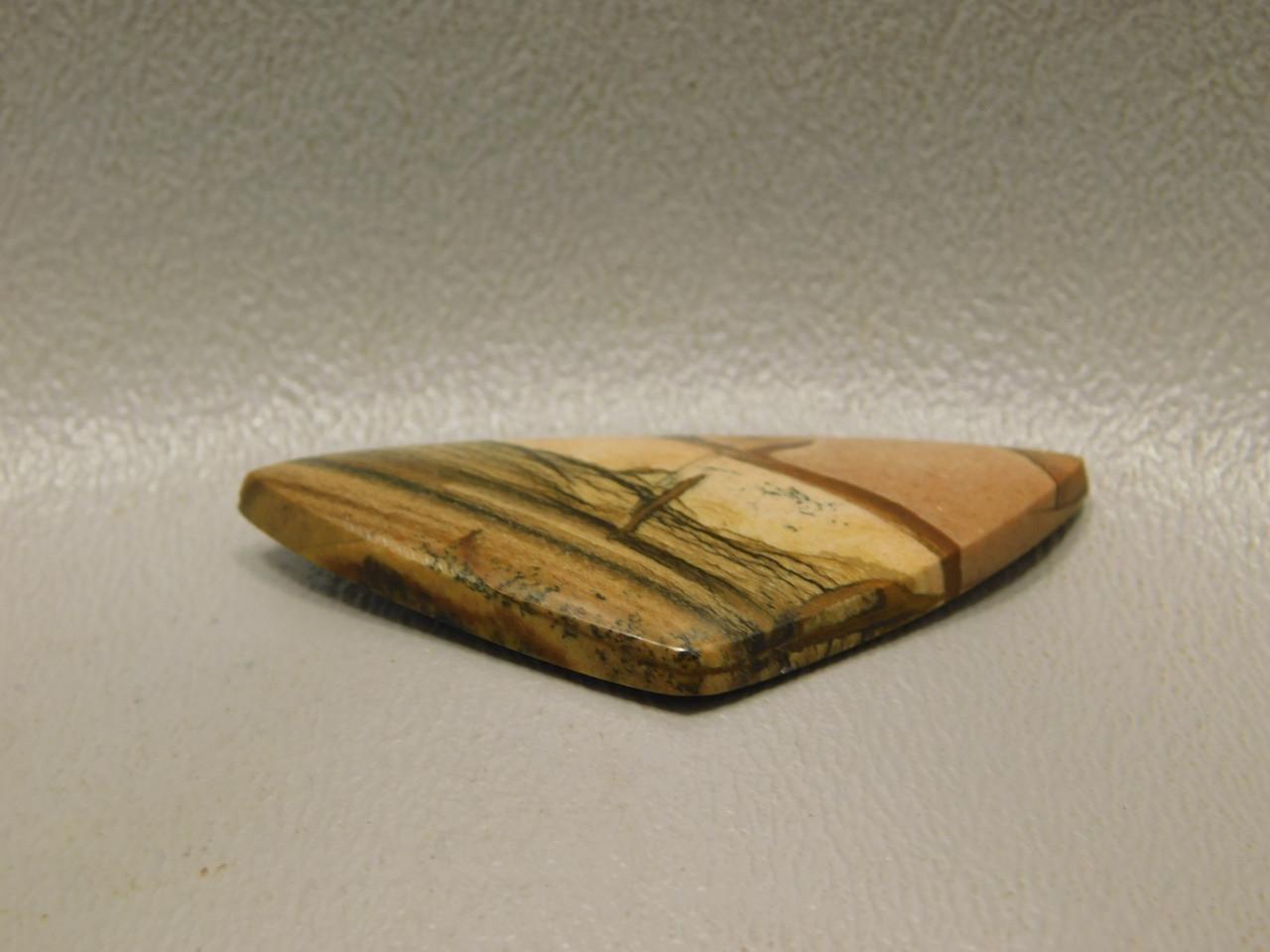 Cabochon Deschutes Picture Jasper Scenic Porcelain Brown  #4