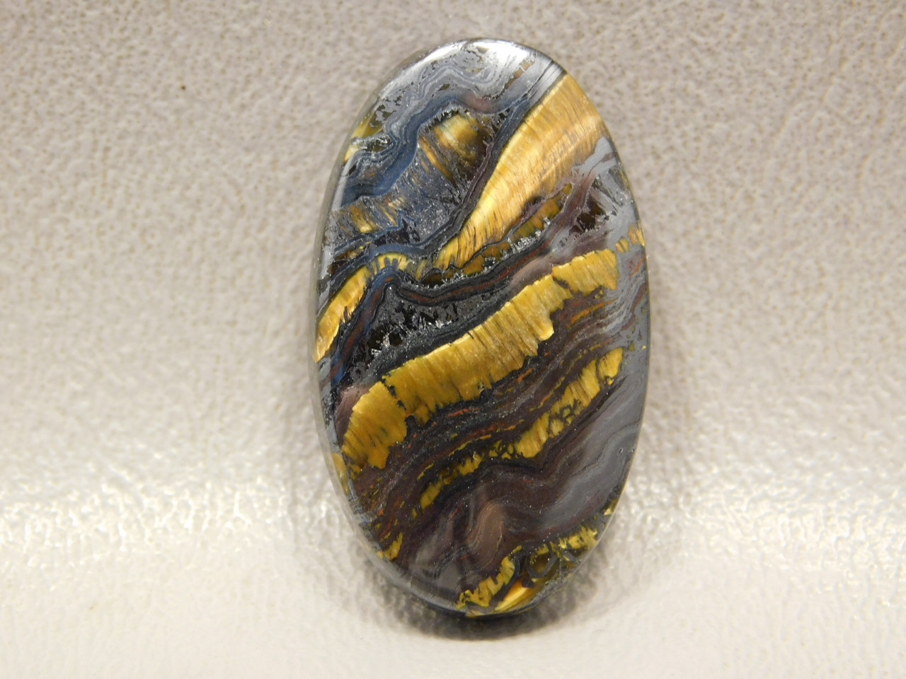 Tiger Iron Semi Precious Chatoyant Gemstone Cabochon #18