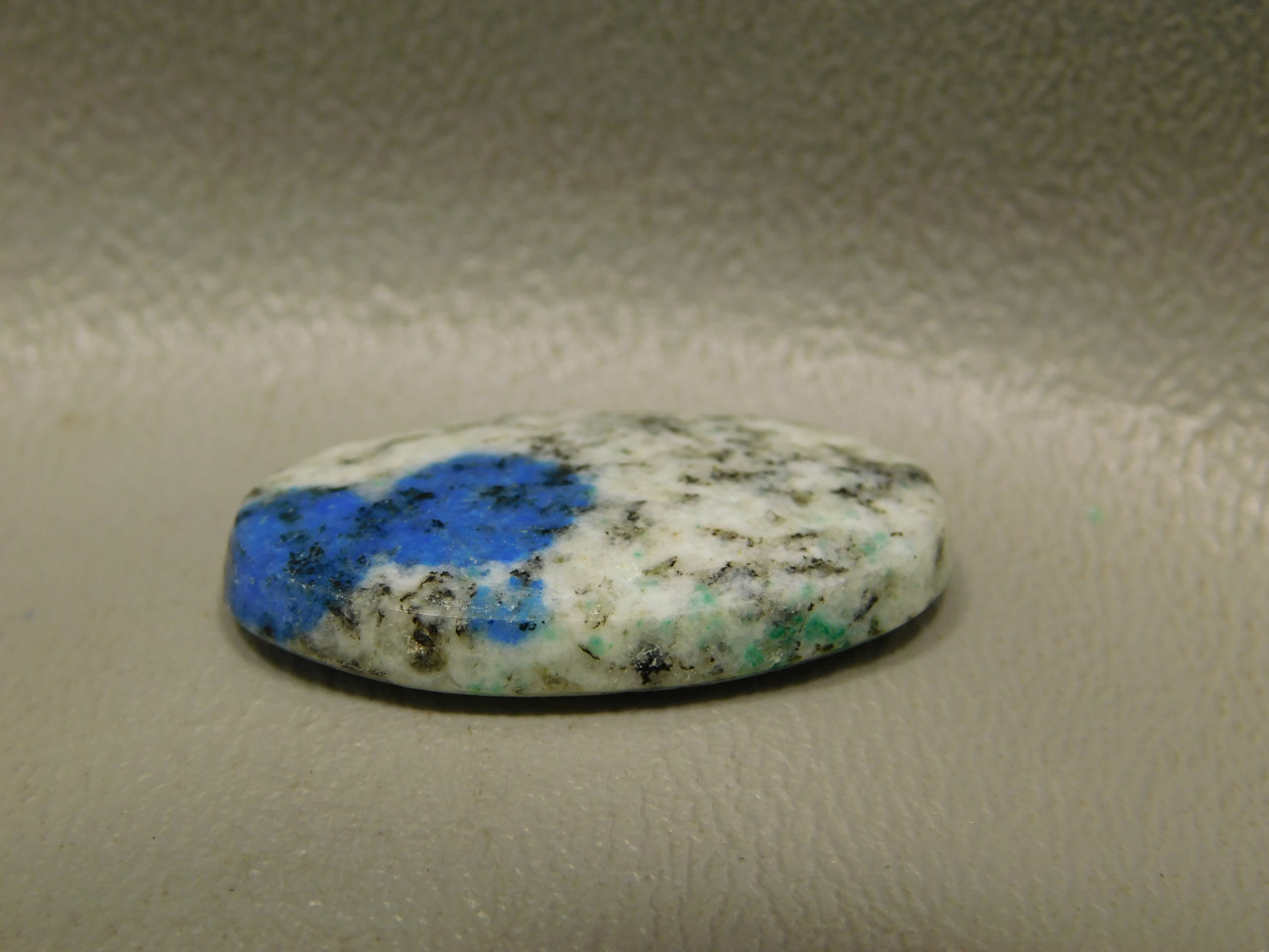 K2 Azurite Granite Jasper Cabochon Blue Dot Natural Stone Oval #6