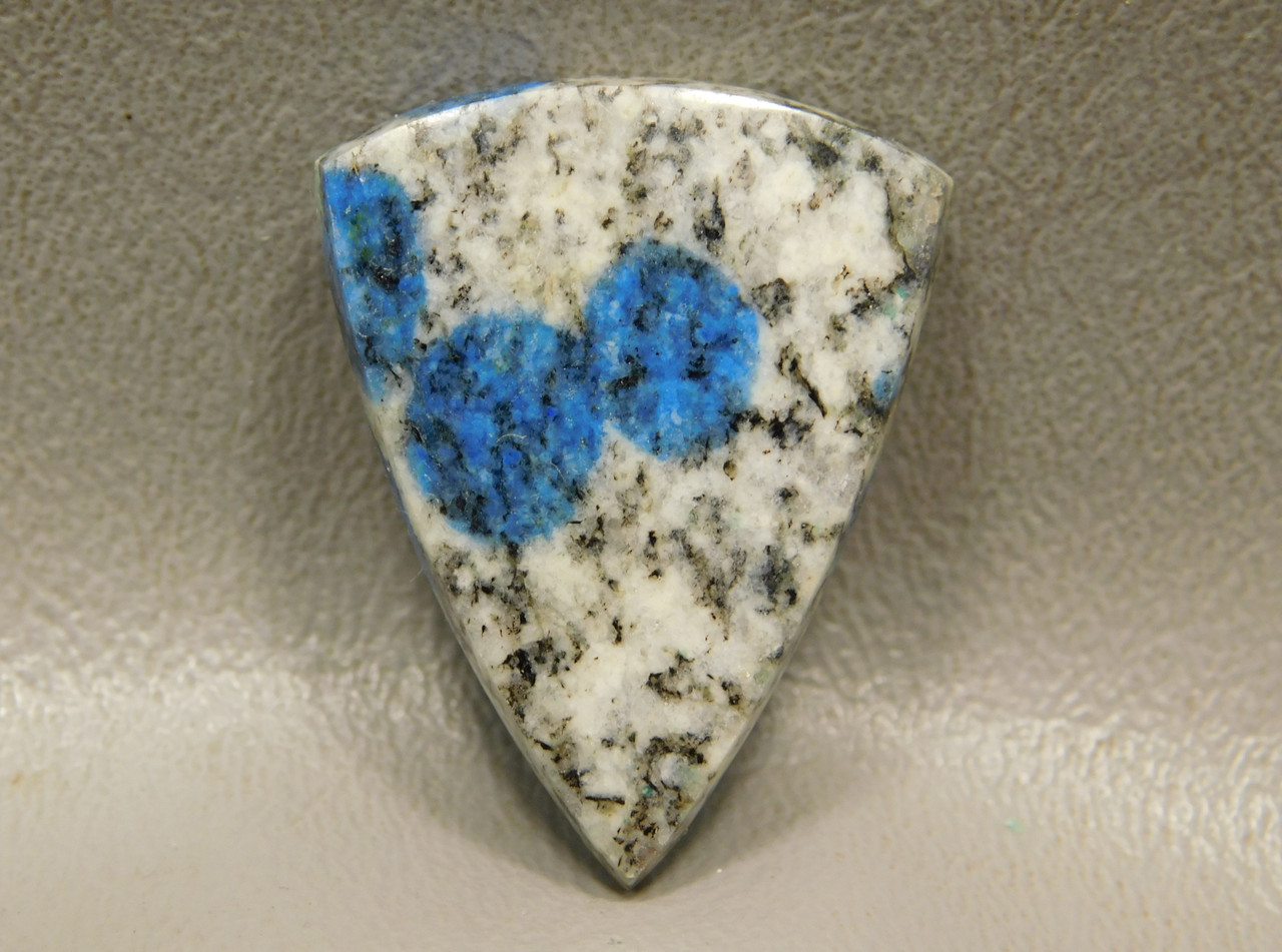 Cabochon K2 Stone Azurite Blue Spots Jewelry Making Supplies 14