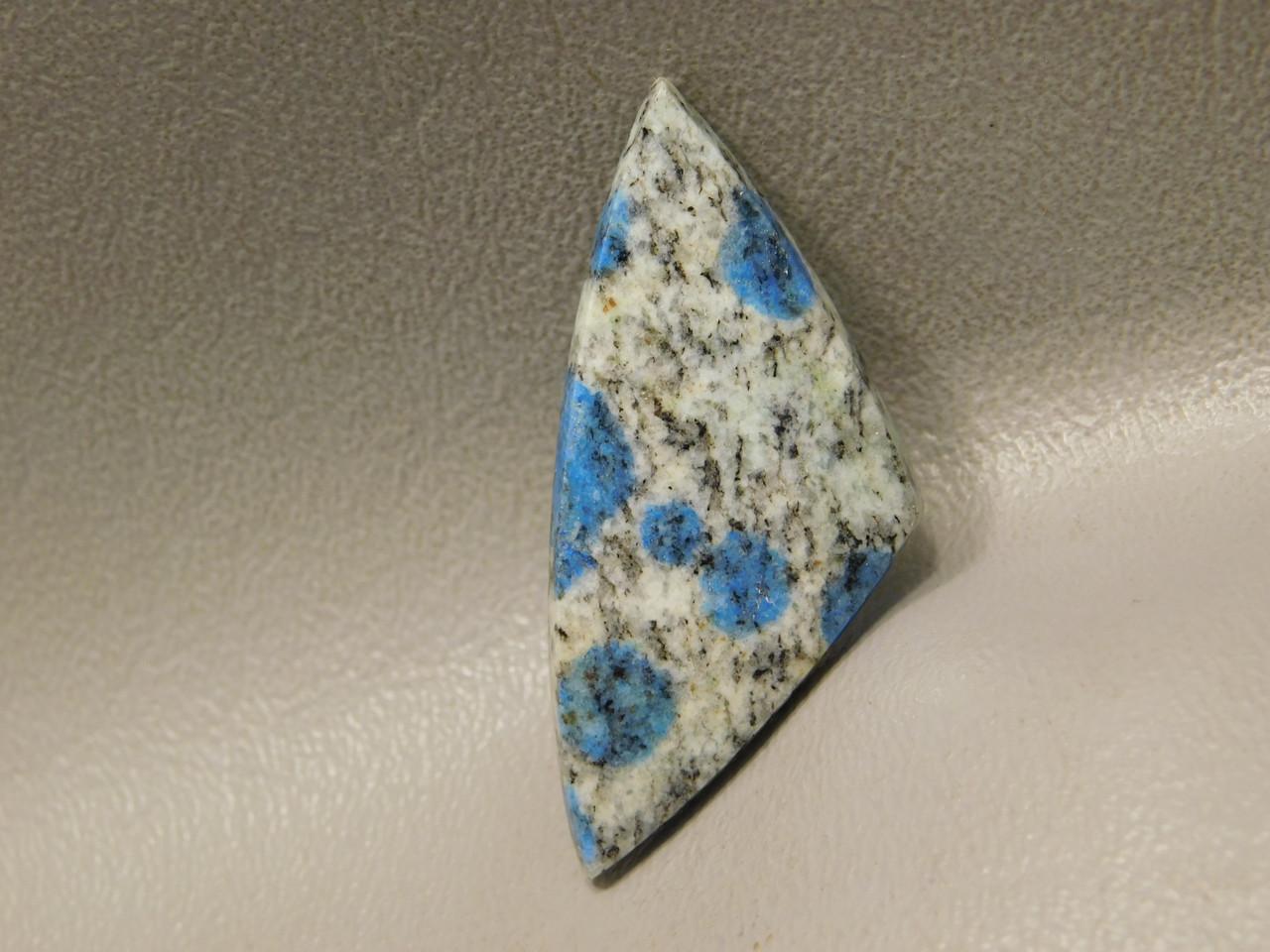 Cabochon K2 Stone Azurite Blue Dots Jewelry Making Supplies 16