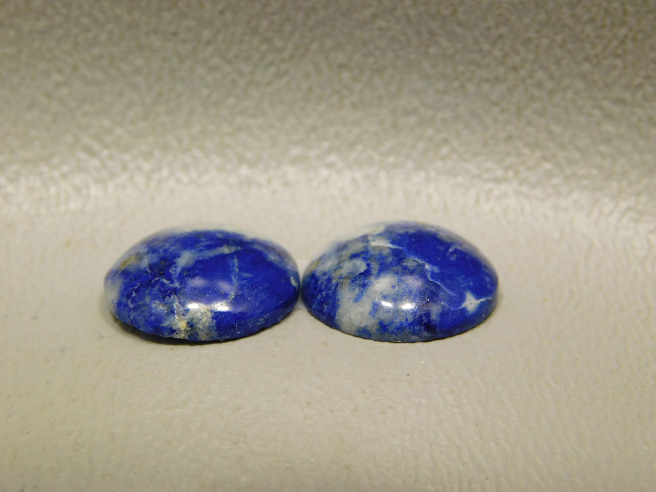 Cabochons Blue Stone Lapis Small 13 mm Round Matched Pairs #20