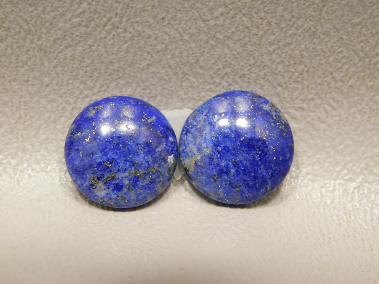 Cabochons Natural Stones Lapis Lazuli 13 mm Rounds Matched Pairs #4