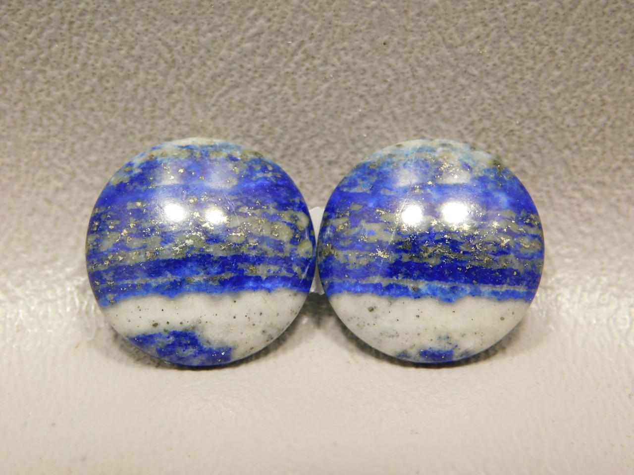 Cabochons Natural Stones Lapis Lazuli 17 mm Rounds Matched Pairs #24