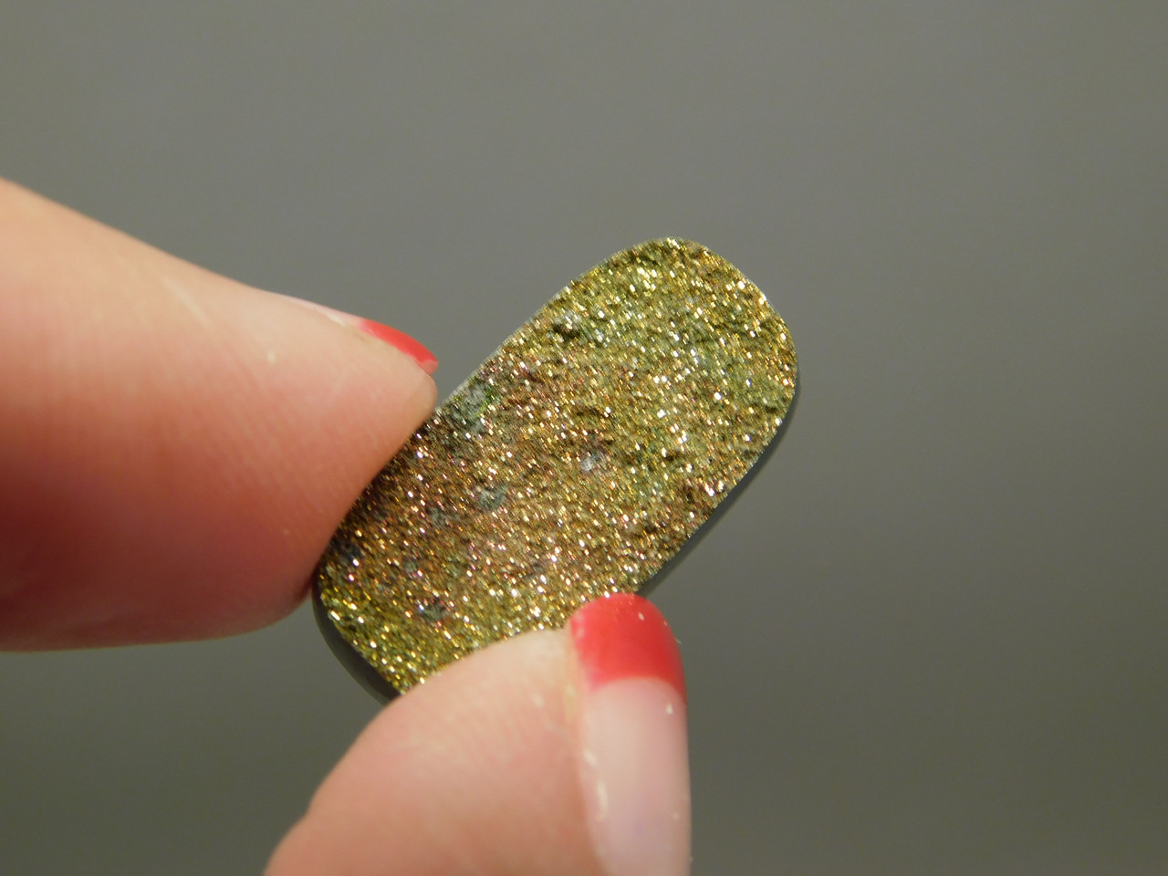 Iridescent Pyrite Sparkling Stone Cabochon Jewelry Making Supplies #3