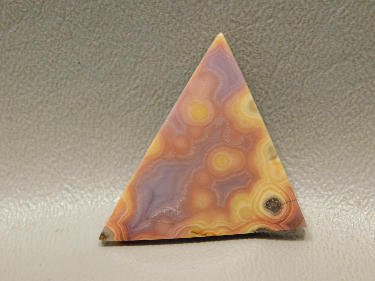 Yellow Purple Pink Coyamito Agate Stone Cabochon Triangle #4