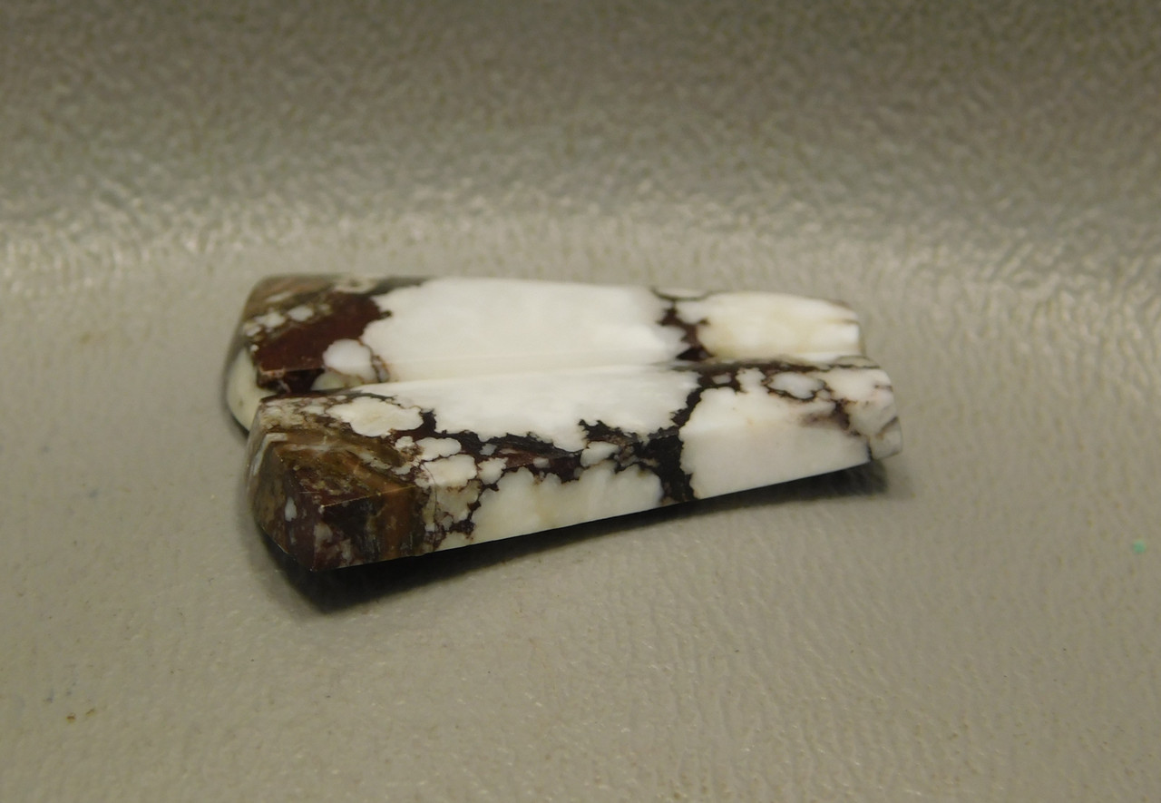 Wild Horse Stone Matched Cabochons White Brown Mottled Pairs #26