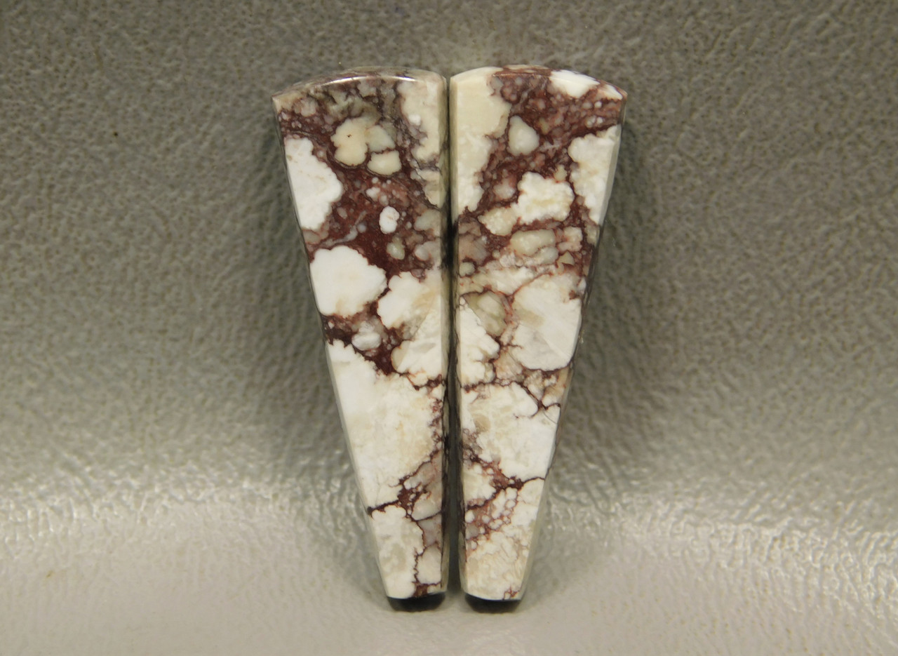 Wild Horse Stones Matched Cabochons White Brown Mottled Pairs #15