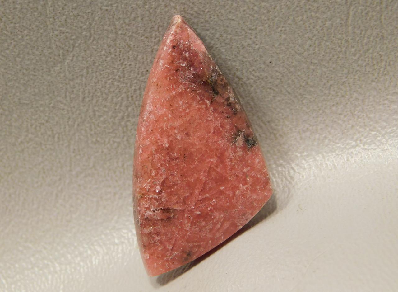 Cabochon Rhodonite Translucent Pink and Black Stone Australia #18
