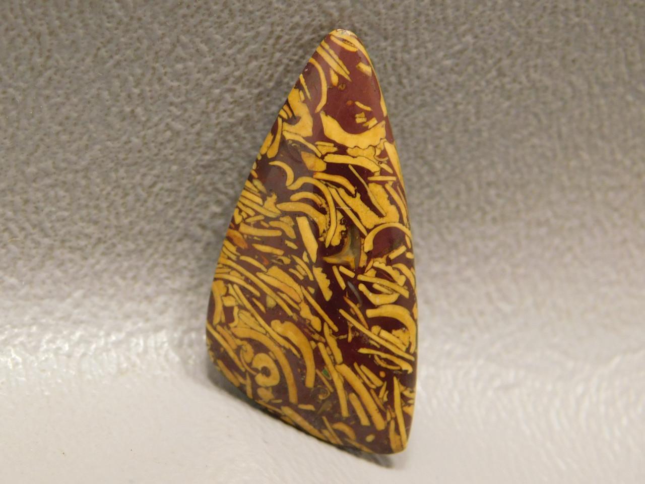 Triangle Cabochon Coquina Jasper Script Stone for Jewelry Making #10