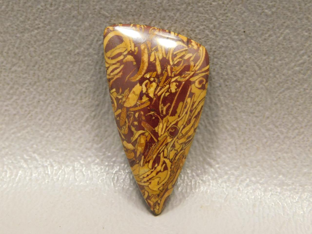 Triangle Cabochon Coquina Jasper Cobra Stone for Jewelry Making #24
