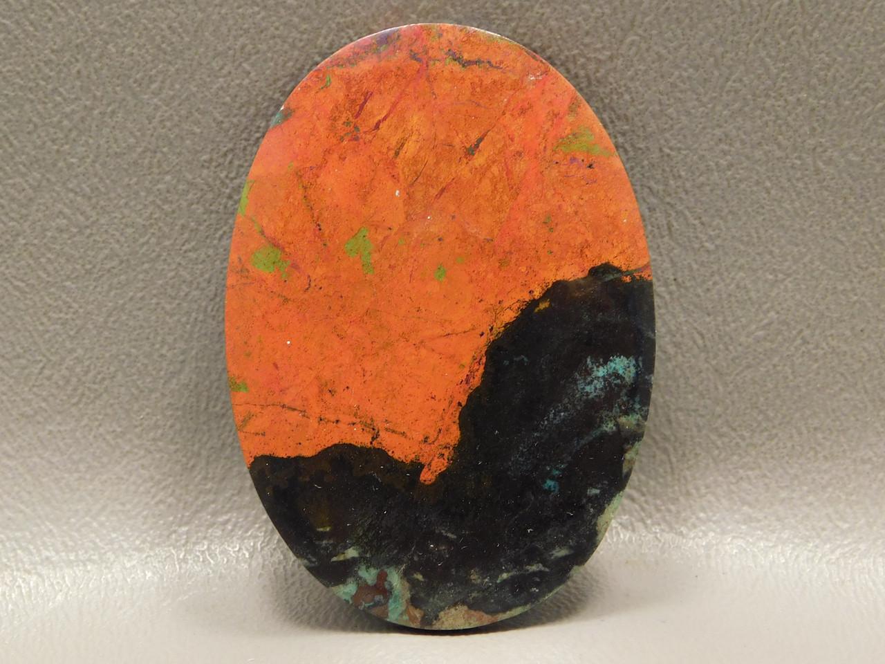 Jewelry Stone Cabochon Sonoran Sunset Crimson Cuprite Red Black #28
