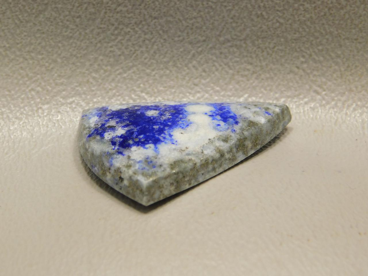 Natural Lapis Lazuli Oval Stone Blue Gold Pyrite Triangle Cabochon #11