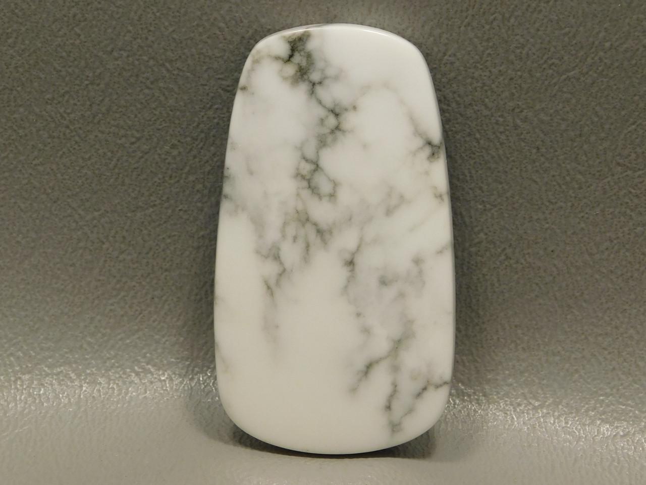 Designer Cabochon Stone White Howlite Tick Canyon California #17