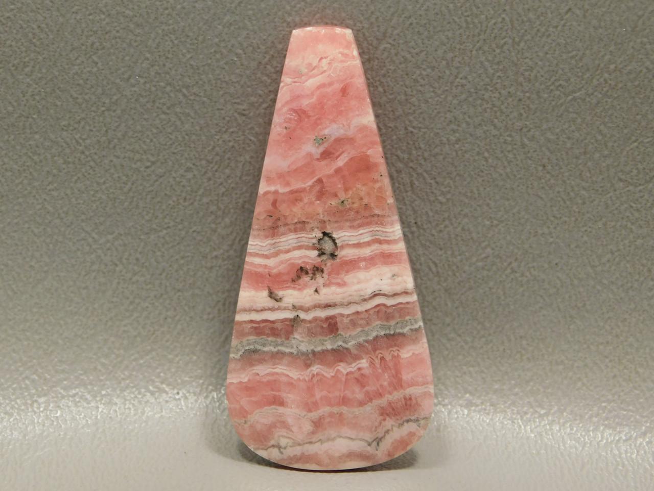Rhodochrosite Pink Stone Cabochon Large Tongue Drop Shape #6