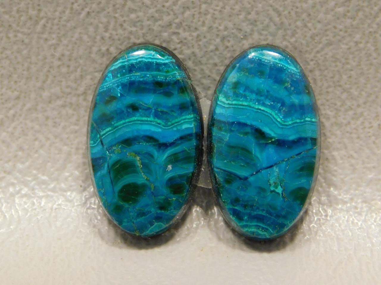 Chrysocolla Malachite Pairs Ovals Stones Cabochons Arizona #30