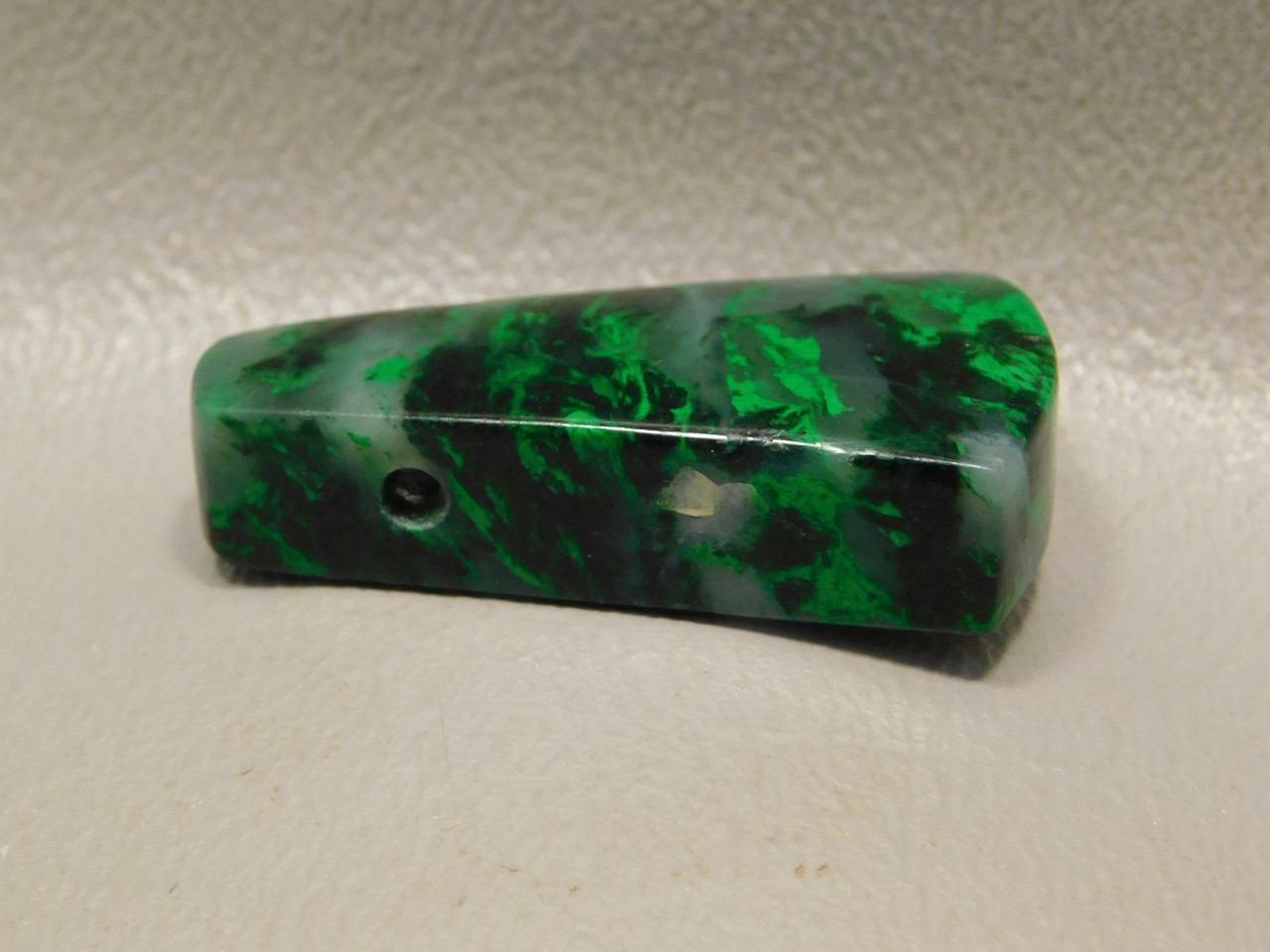 Rare Maw Sit Sit Green Jade Drilled Stone Focal Point Bead Pendant #1
