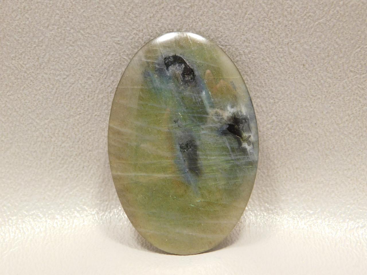 Spectrolite Designer Cabochon Oval Flashy Yellow Chatoyant Stone #8
