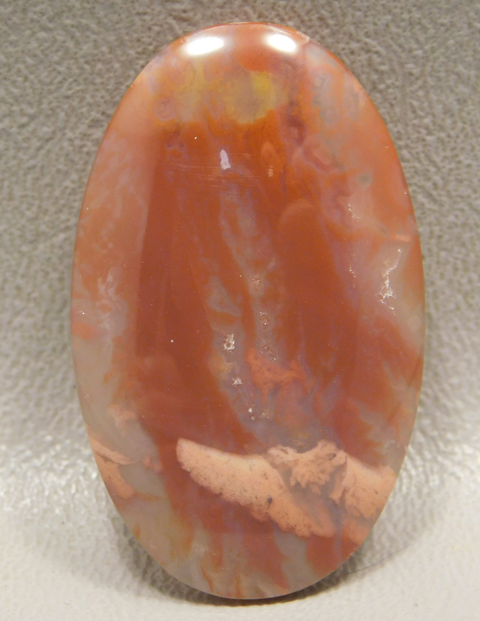 Flame Agate Cabochon #6