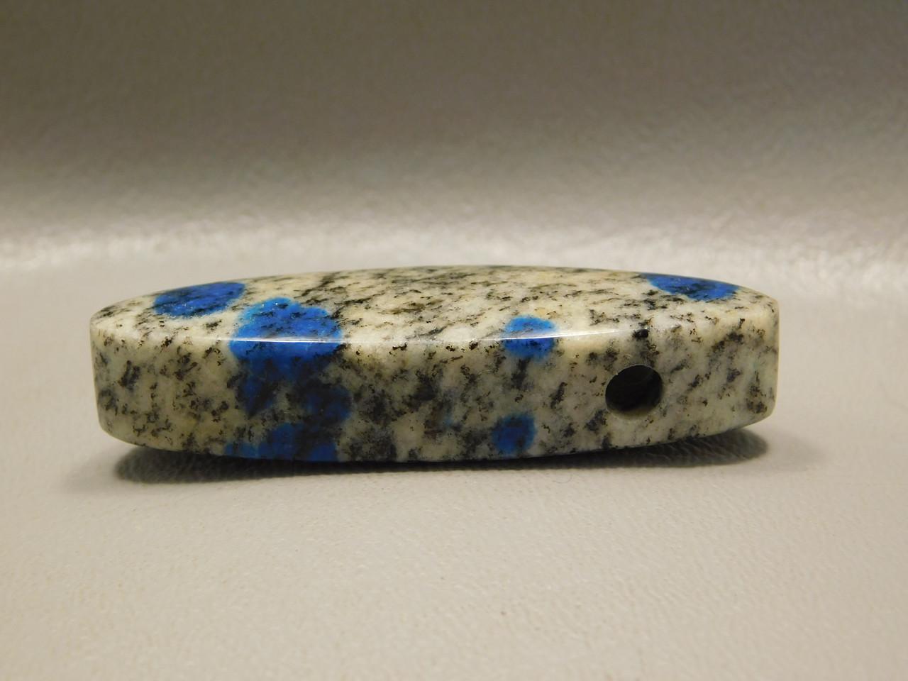 K2 Azurite Granite Stone Bead Pendant #1