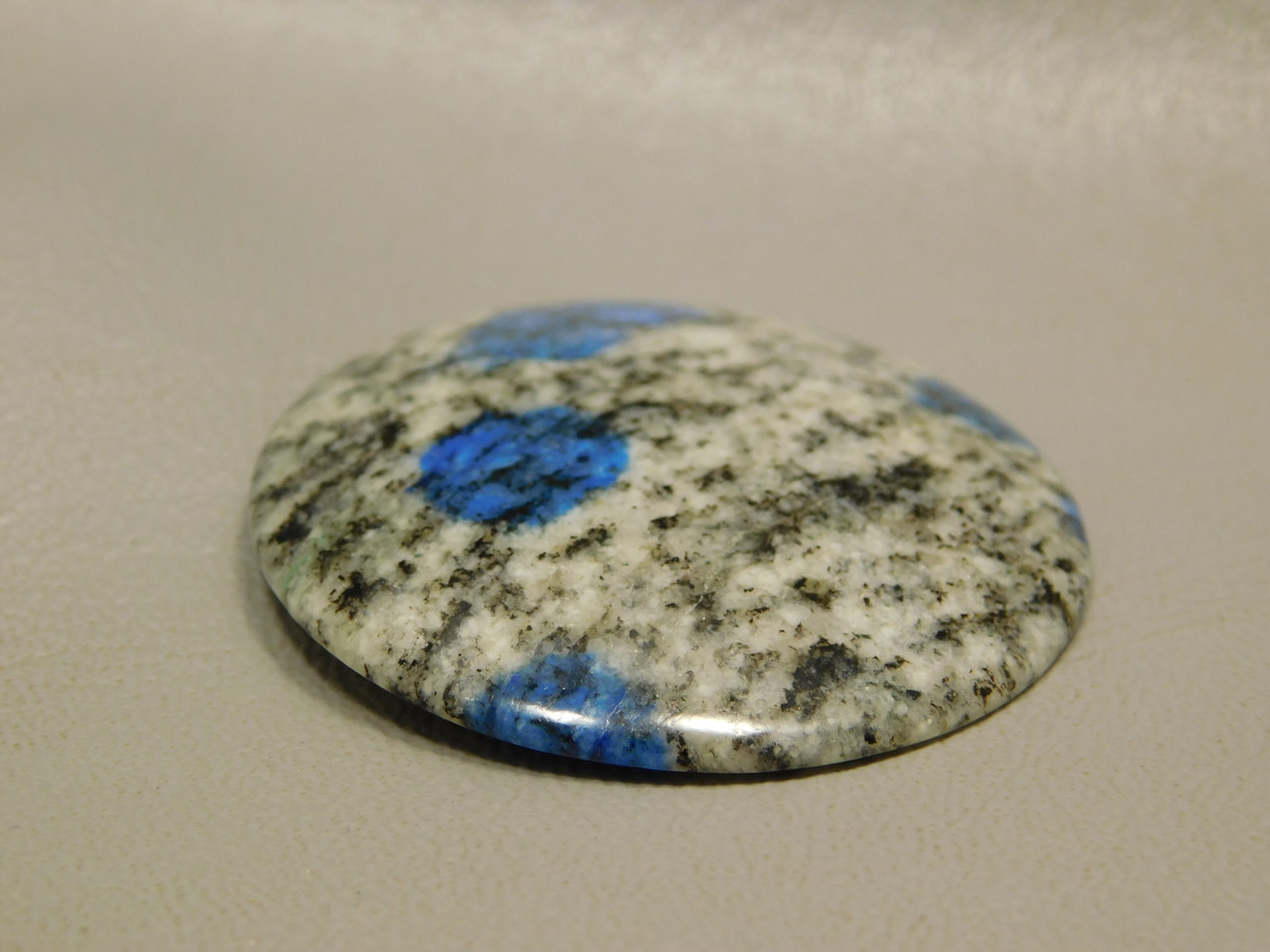 Cabochon K2 Azurite Granite 40 MM Round Semi Precious Gemstone 1