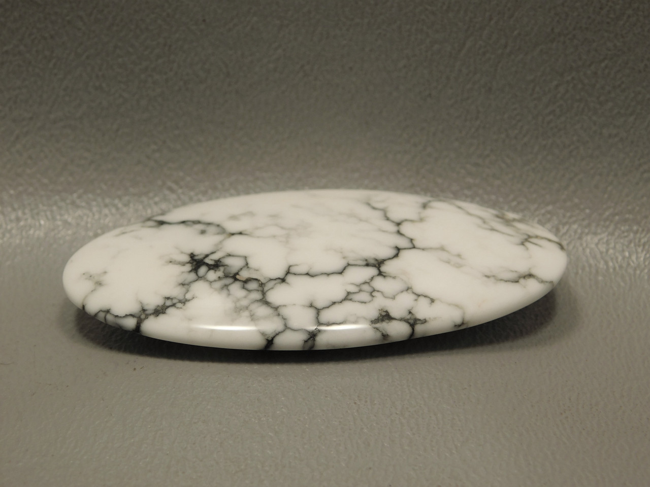 Cabochon Howlite Oval White Gray Stone Semi Precious Gemstone 13
