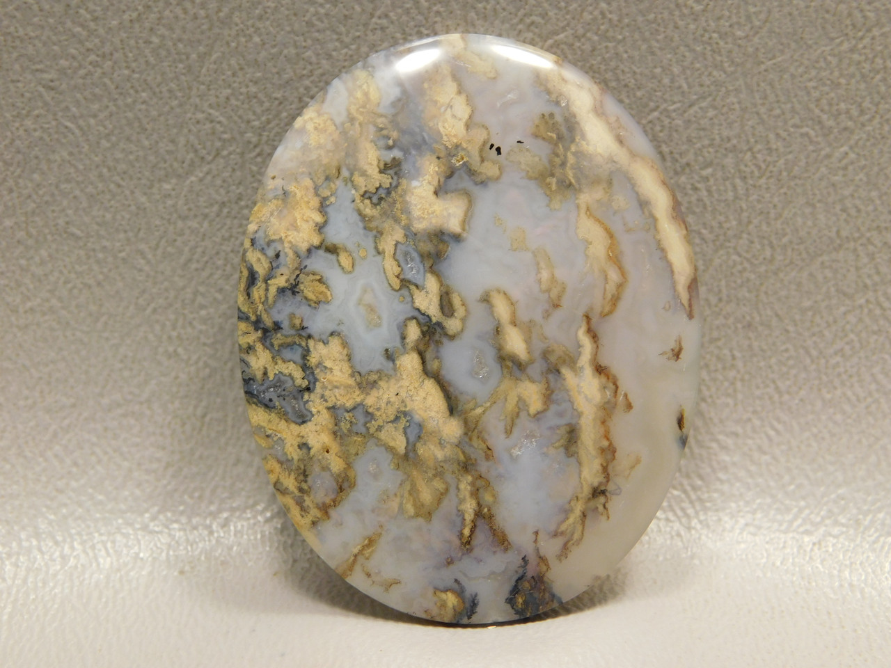 Graveyard Plume Agate Cabochon Jewelry Making Supplies #5