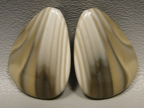 Polish Flint Matched Pair Stone Cabochon Semi Precious Designer Gemstone 5-2