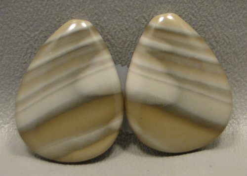 Polish Flint Matched Pair Cabochons #11