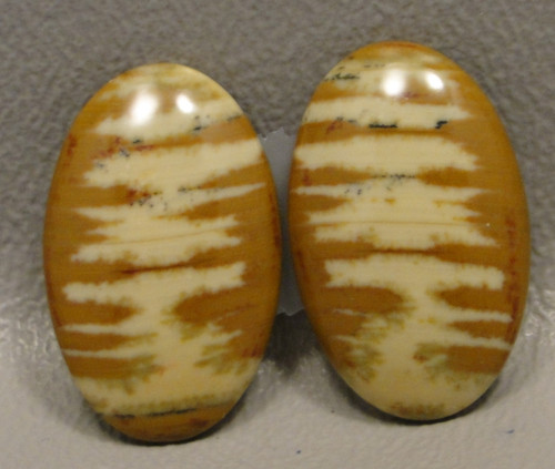 Owyhee Picture Jasper Matched Pair Cabochons #15