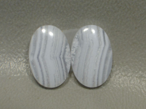 Blue Lace Agate Matched Pair Cabochons #17