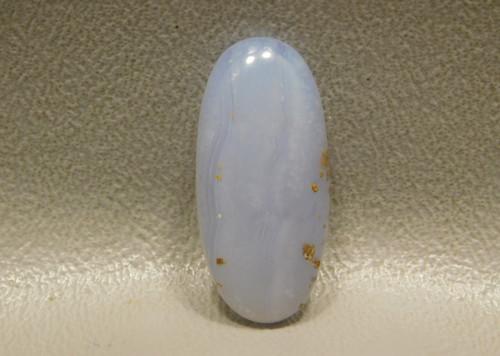 Blue Ice Polka Dot Agate Semi Precious Stone Designer Cabochon #17