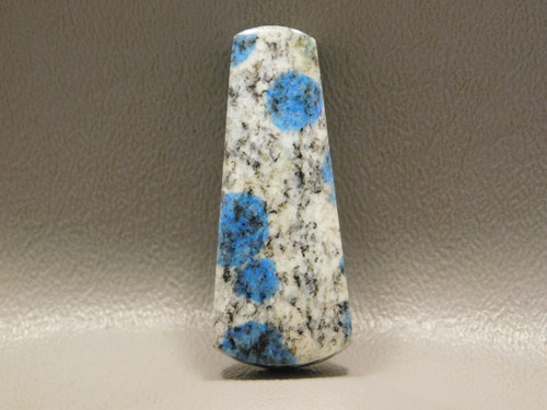 K2 Azurite Granite Stone Bead Pendant #11
