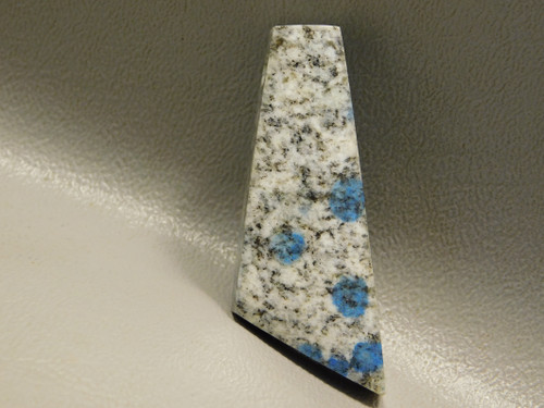 K2 Azurite Granite Stone Bead Pendant #3