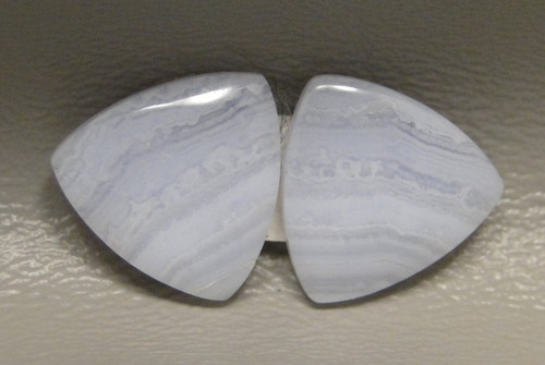 Blue Lace Agate Matched Pair Cabochons #9