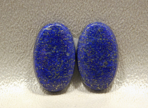 Lapis Lazuli High Grade Gemstone Matched Pair Designer Cabochons #8