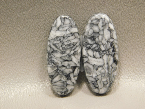 Pinolith or Pinolite Semi Precious Gemstone Matched Pair Stone Cabochons #15