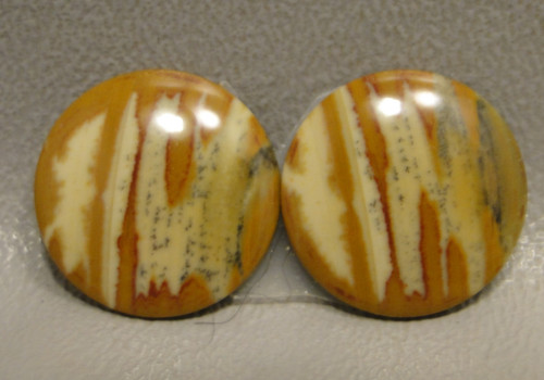 Owyhee Picture Jasper Designer Gemstone Matched Pair Cabochons #8