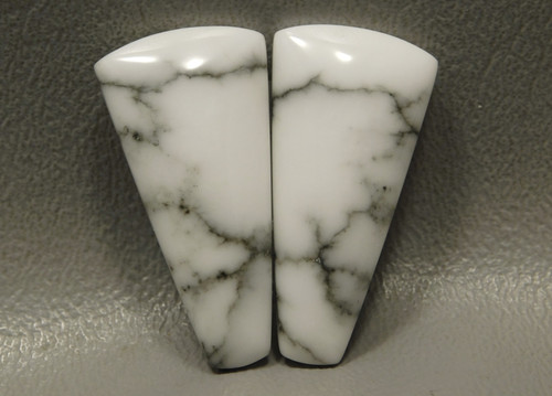 Cabochons Howlite Matched Pair Stones Trapezoids Tick Canyon #17
