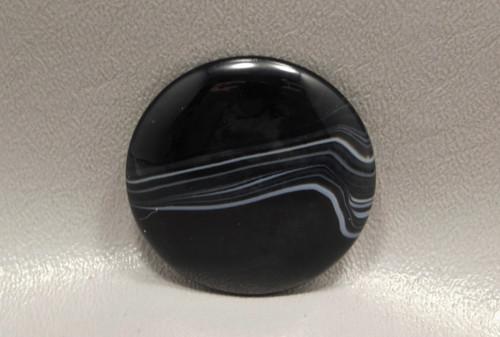 Tuxedo Agate Custom Cut 40 mm Round Cabochon Gemstone #24