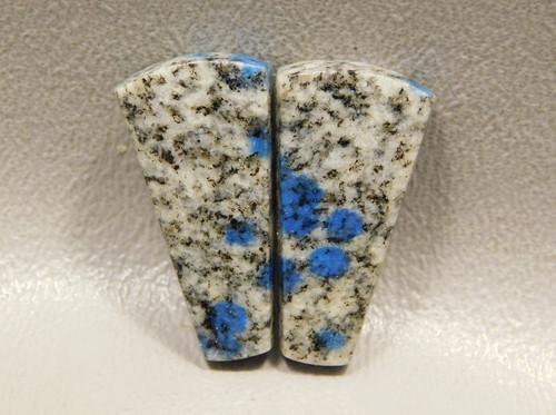 Cabochons K2 Azurite Semi Precious Matched Pair Gemstone 22