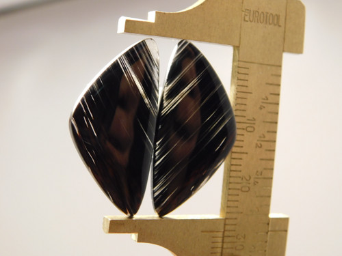 Matched Pairs Cabochons Mahogany Obsidian Black and Red #18