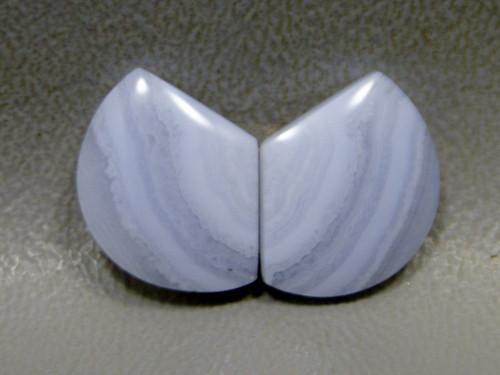 Cabochons Blue Lace Agate Matched Pair Shield Shape  #21