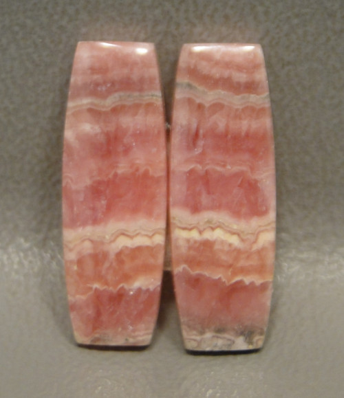 Pink Stone Rhodochrosite Matched Pair Cabochons #11