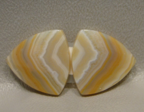 Banded Agate Matched Pair Cabochon Stones #24