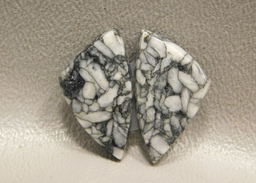 Pinolith or Pinolite Matched Pair Earrings Stones Cabochons #1